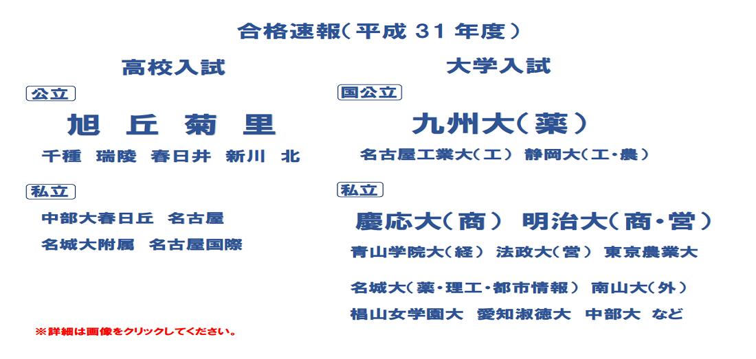 名古屋市北区の学習塾 小学生 中学生 高校生